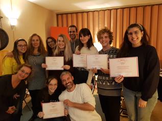 Entrega de diplomas a los alumnos del monográfico de Frozen (Madrid, noviembre 2019)