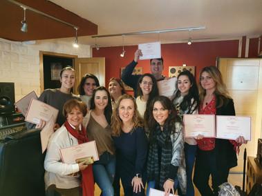 Entrega de diplomas a los alumnos del curso de Málaga (febrero 2020)