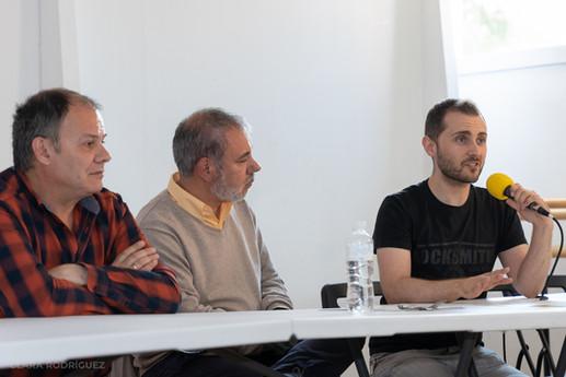 Eduardo Gutiérrez, Iñaki Torre y Rodri Martín en las jornadas de doblaje (Madrid, junio 2019)