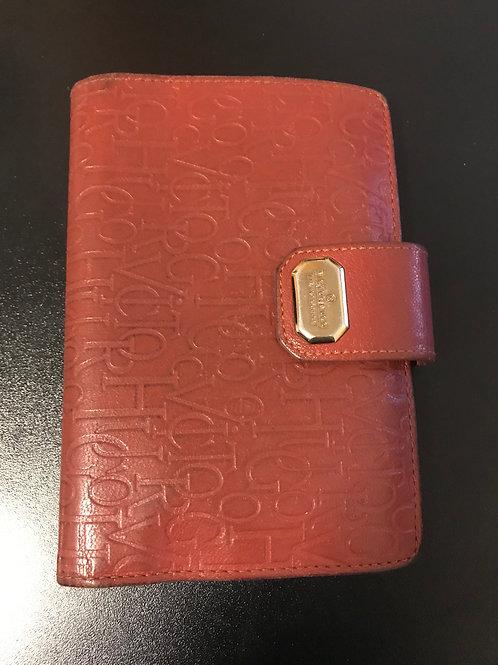 Carteira Victor Hugo em couro vermelho