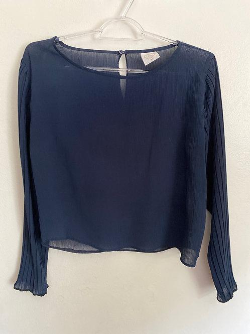 Blusa social azul marinho  - Tam. M