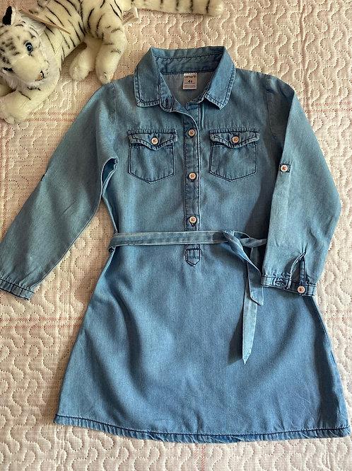 Vestido Jeans - CARTERS - 4 anos