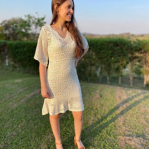 Vestido crochê - Plataforma Vogue - Medio