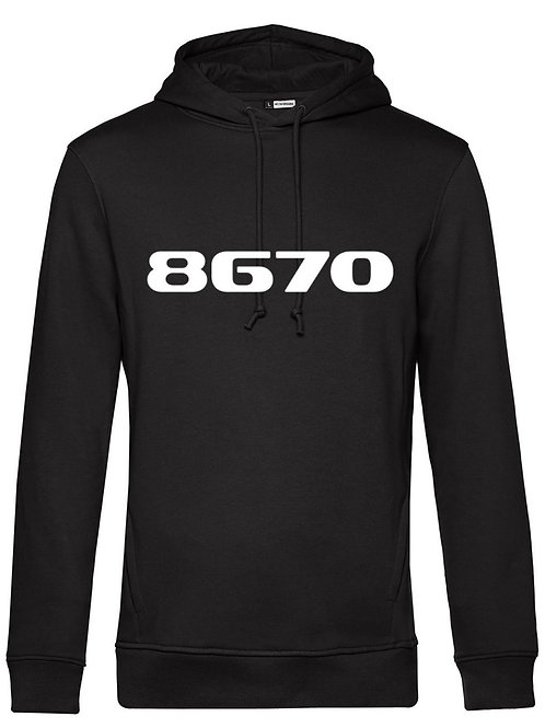 POSTCODE hoodie mannen zwart