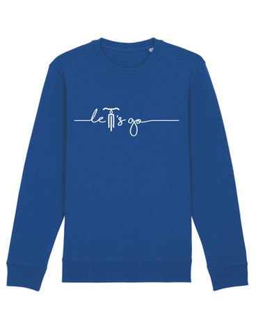 sweater majorelle blue let's go.jpg