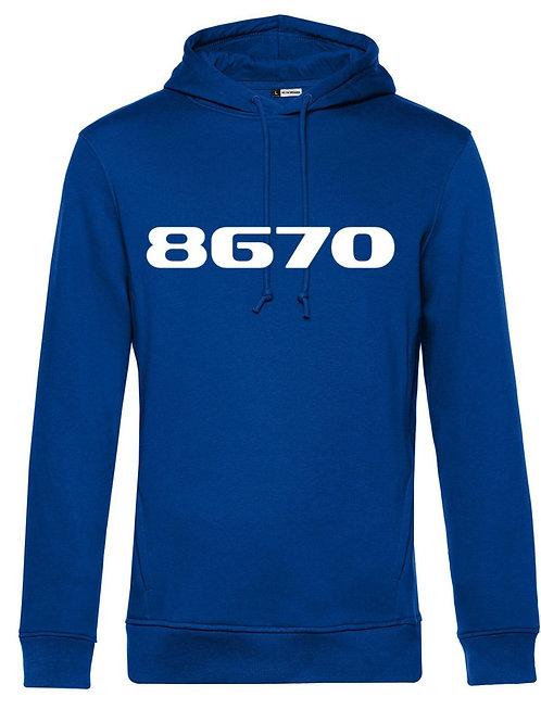POSTCODE hoodie royal blue mannen