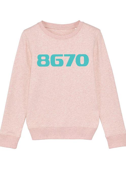 POSTCODE kinder sweater heather roze