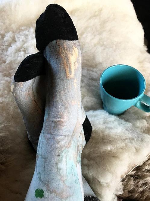 Marble bleu sokken