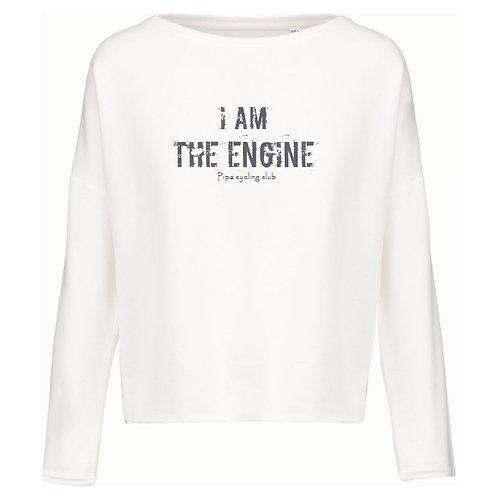 I am the engine sweater women