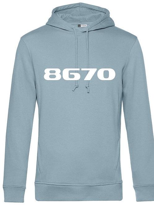 POSTCODE hoodie blue fog mannen