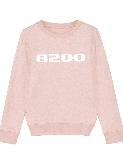 POSTCODE kinder sweater heather roze/wit print