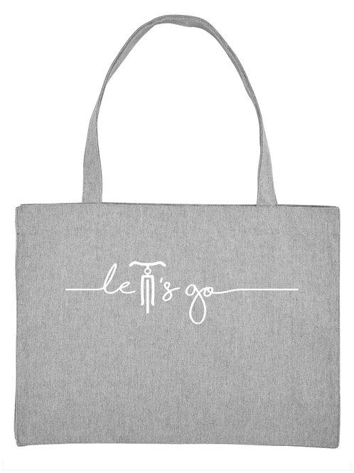 Shopping bag let's go grey