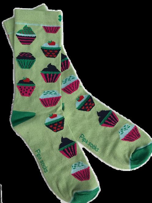 Cupcake sokken