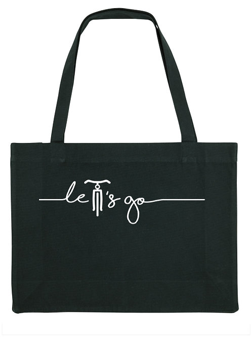 Shopping bag let's go black