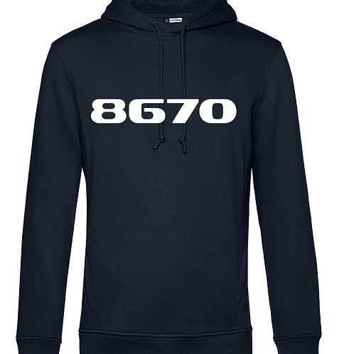 POSTAL CODE men hooded navy blue