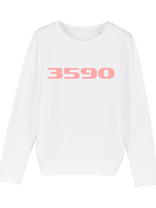 POSTAL CODE kids sweater white/pink print