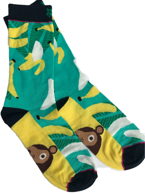 Banaan/aapje sokken