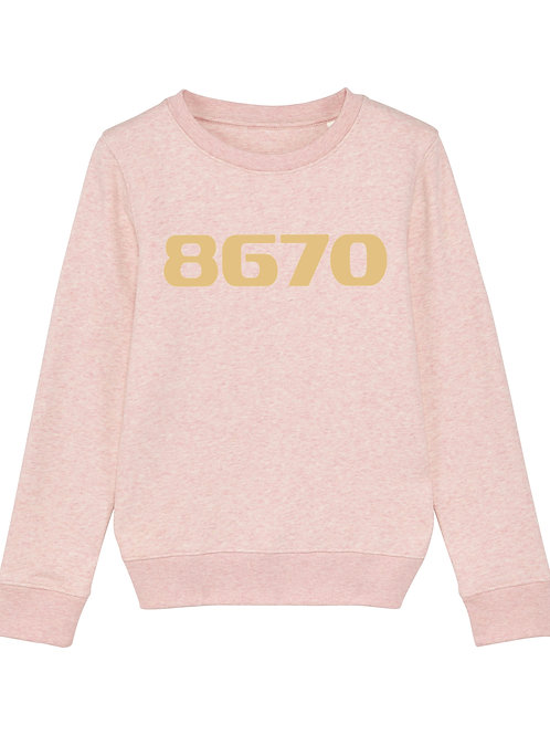 POSTCODE kinder sweater roze/goud print