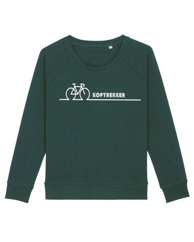 sweater dames glazed green koptrekker.jp