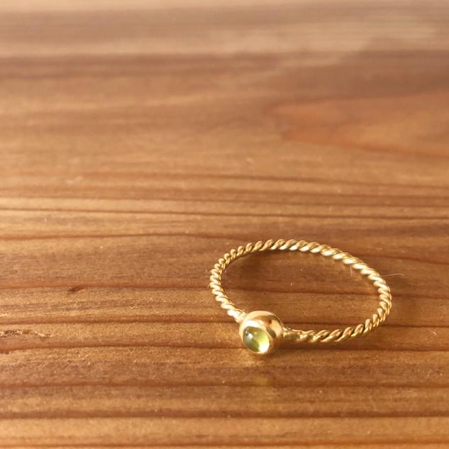 18K Vintage twist chakra ring