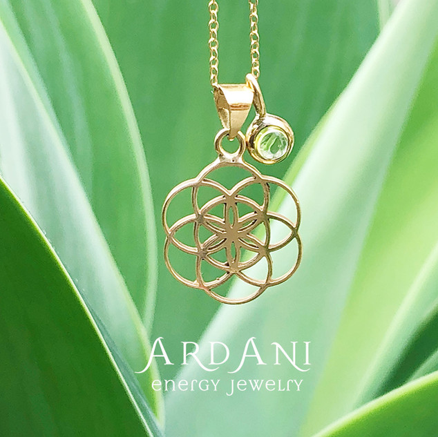18K Seed of Life pendant top