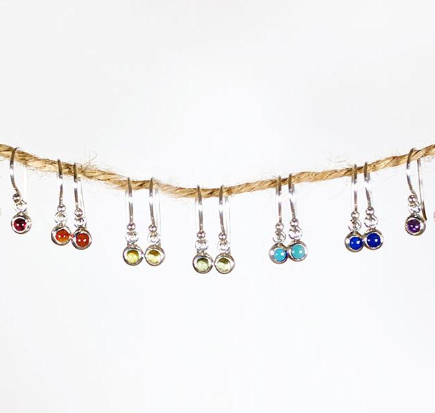 Chakra Earrings silver 925