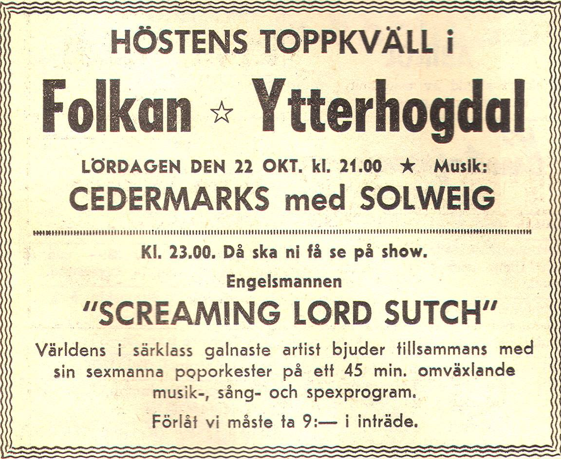 Ostersund Sweden 22 Oct 1966