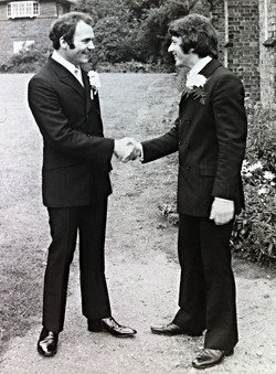 Carlo with his best man Tony Burrows