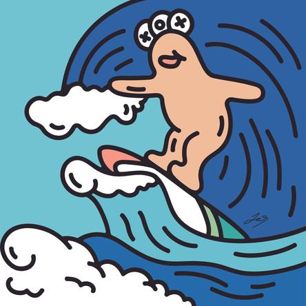 OXU friends_surfing
