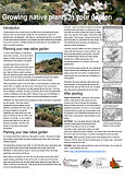 Fact Sheet - Growing native plants in yo