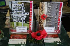 Tour guide books on display.JPG