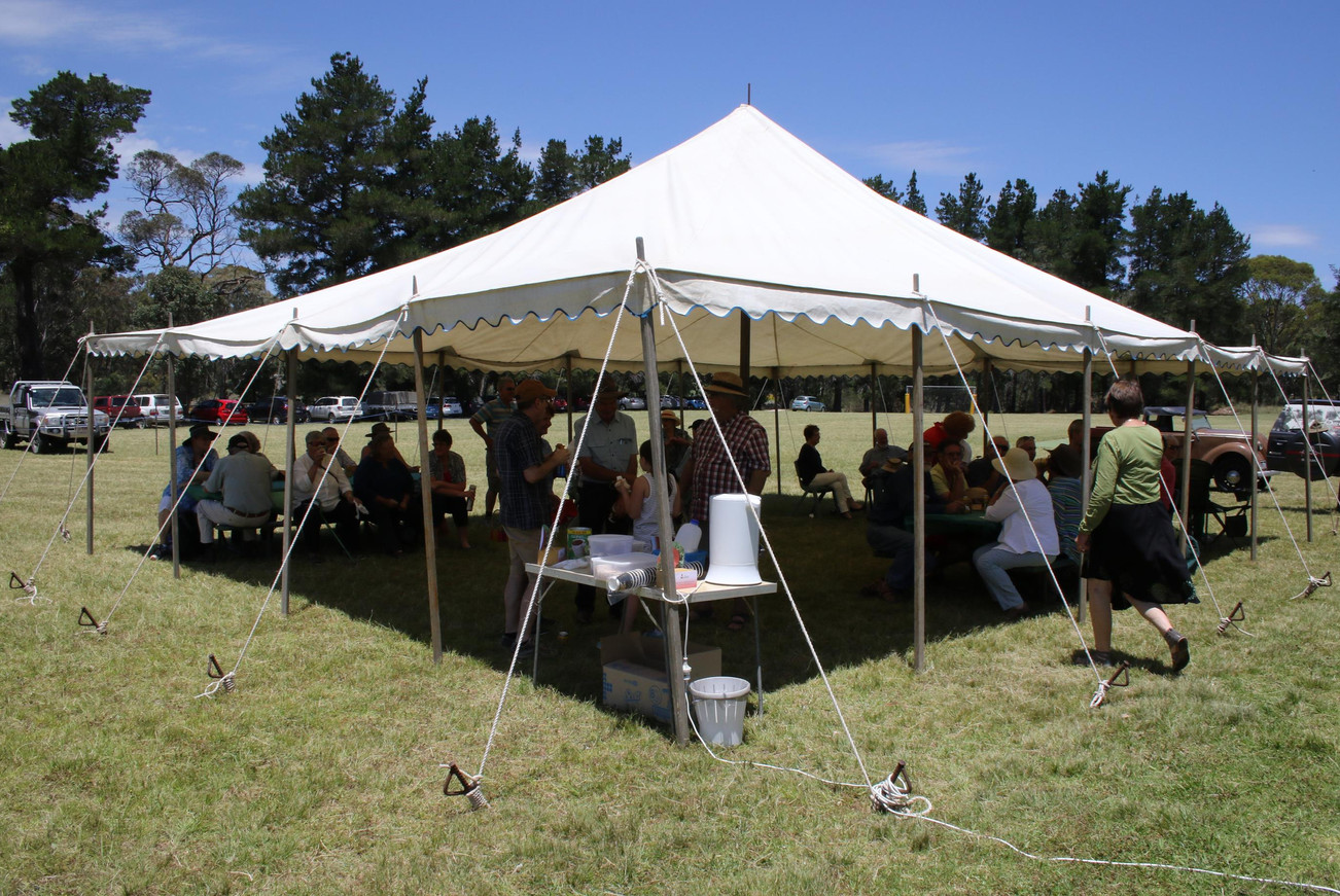Visitors under the marquee.JPG