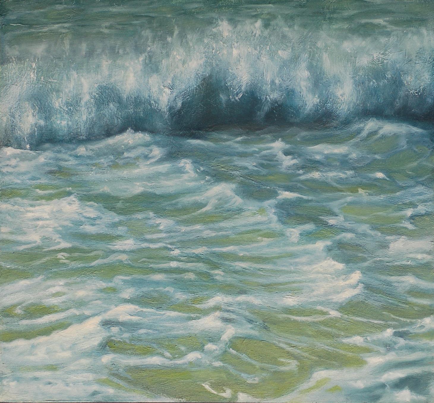 Racing Wave and Sea Foam