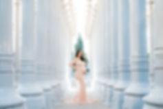 LACMA Lights maternity photography
