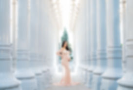 LACMA maternity photo session