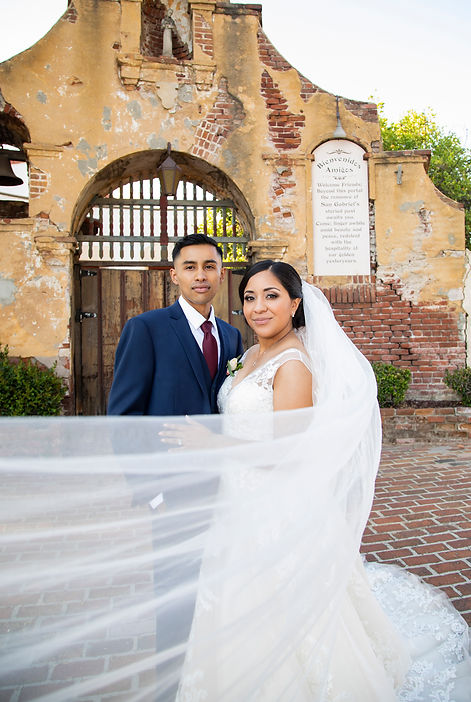 San Gabriel Mission Wedding photography