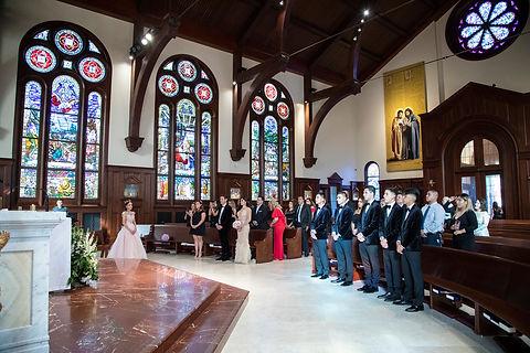 USC Caruso Catholic Center wedding photography