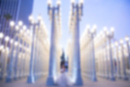 Lacma lights Quinceañera photography