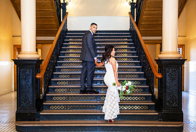 old town orange county courthouse elopement photography