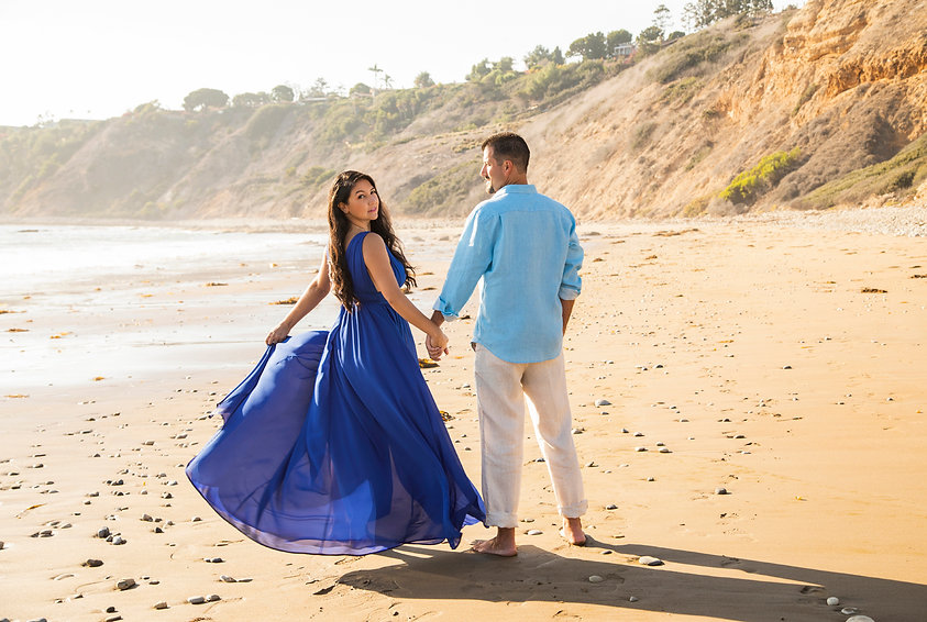Palos Verdes Beach Engagement Photography