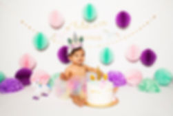 Unicorn Themed Cake Smash Photo Session