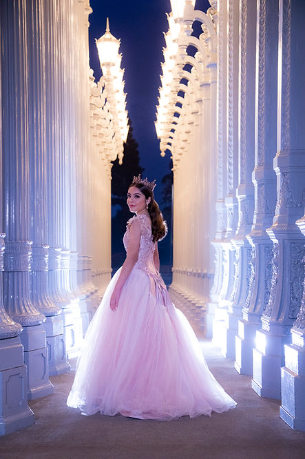 Quinceanera photography LACMA Lights