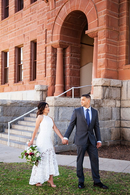Santa Ana courthouse wedding photography