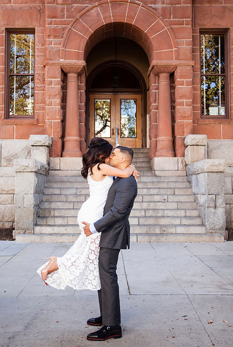 old town orange county courthouse wedding photography