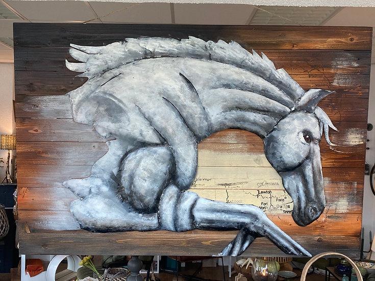 Schilderij paard 3D
