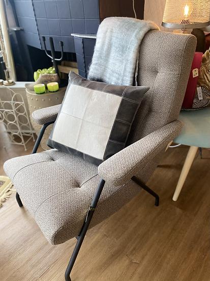 Prachtige grijze fauteuil retro