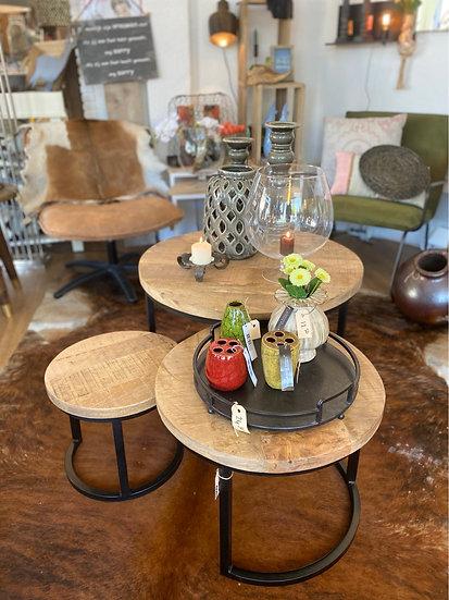 Set van 3 salon tafels
