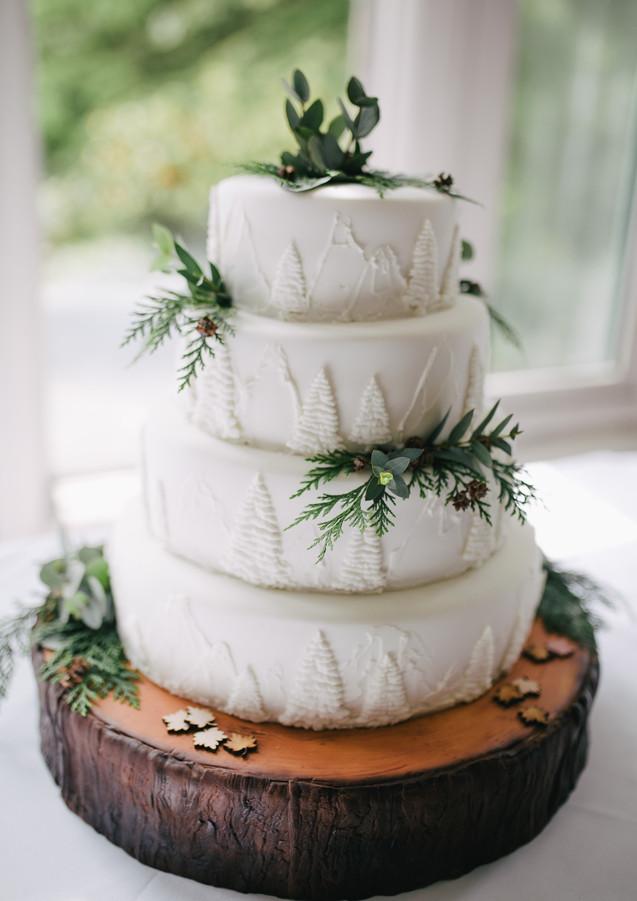 Winter Spirited Velvet Cake