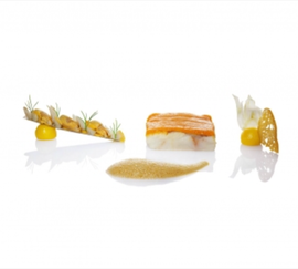 Cod with Salmon Foam.