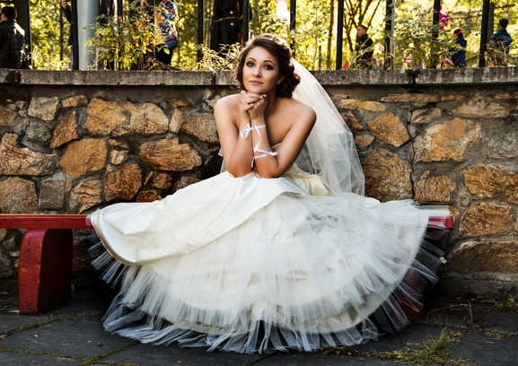 Personally Cut Wedding Gown.